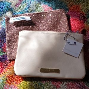 (2) small clutches/makeup bags